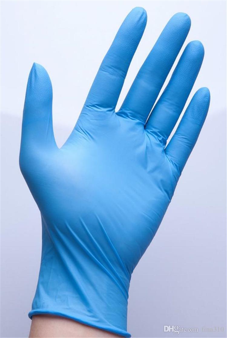 Nuevos guantes de látex de nitrilo desechables 3 tipos de especificaciones opcionales guantes antideslizantes antiácidos guantes de goma de grado B guantes de limpieza I180