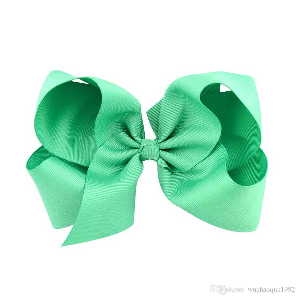 choose free 6 inch baby big bow hairbows infant girls hair bows with Barrettes 15cm*12cm BY0117