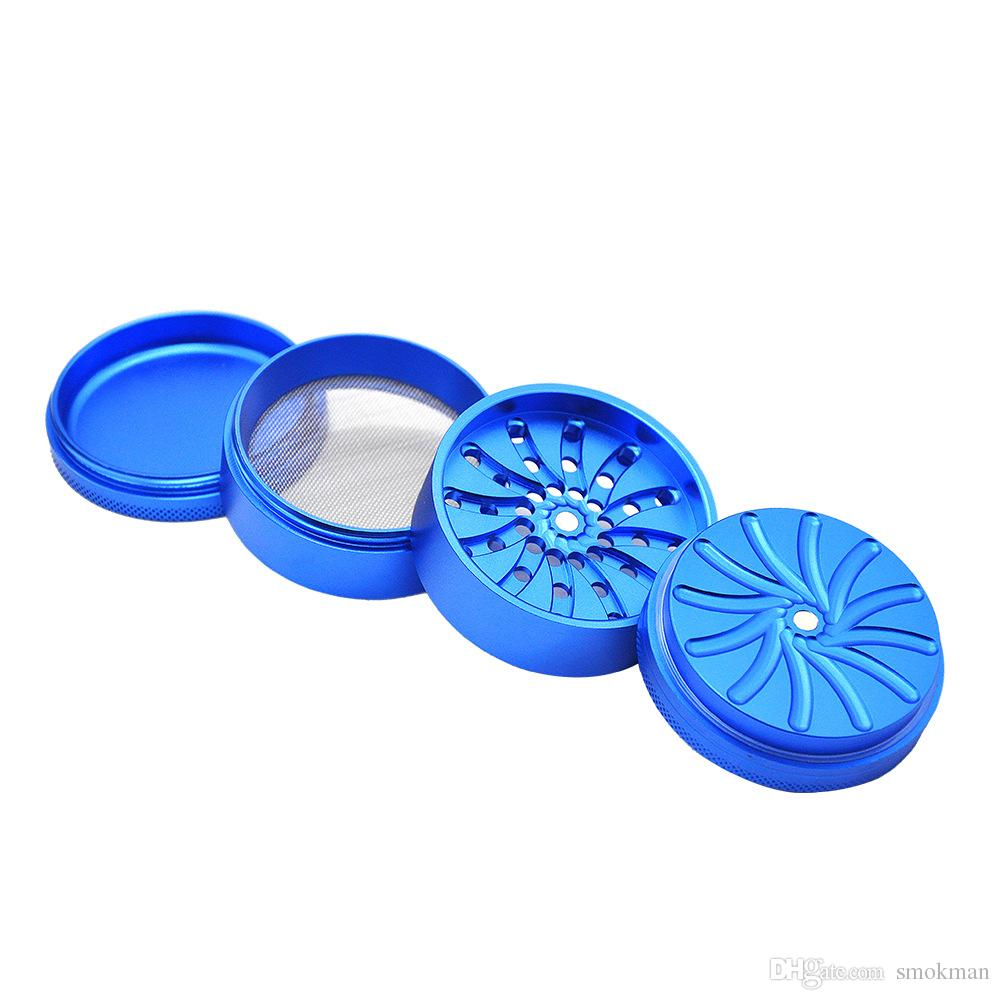 Herb Grinder Unique Teeth 63MM 4Layers Aluminum Alloy Herbal Grinders Tobacco Spice Crusher VS Sharpstone