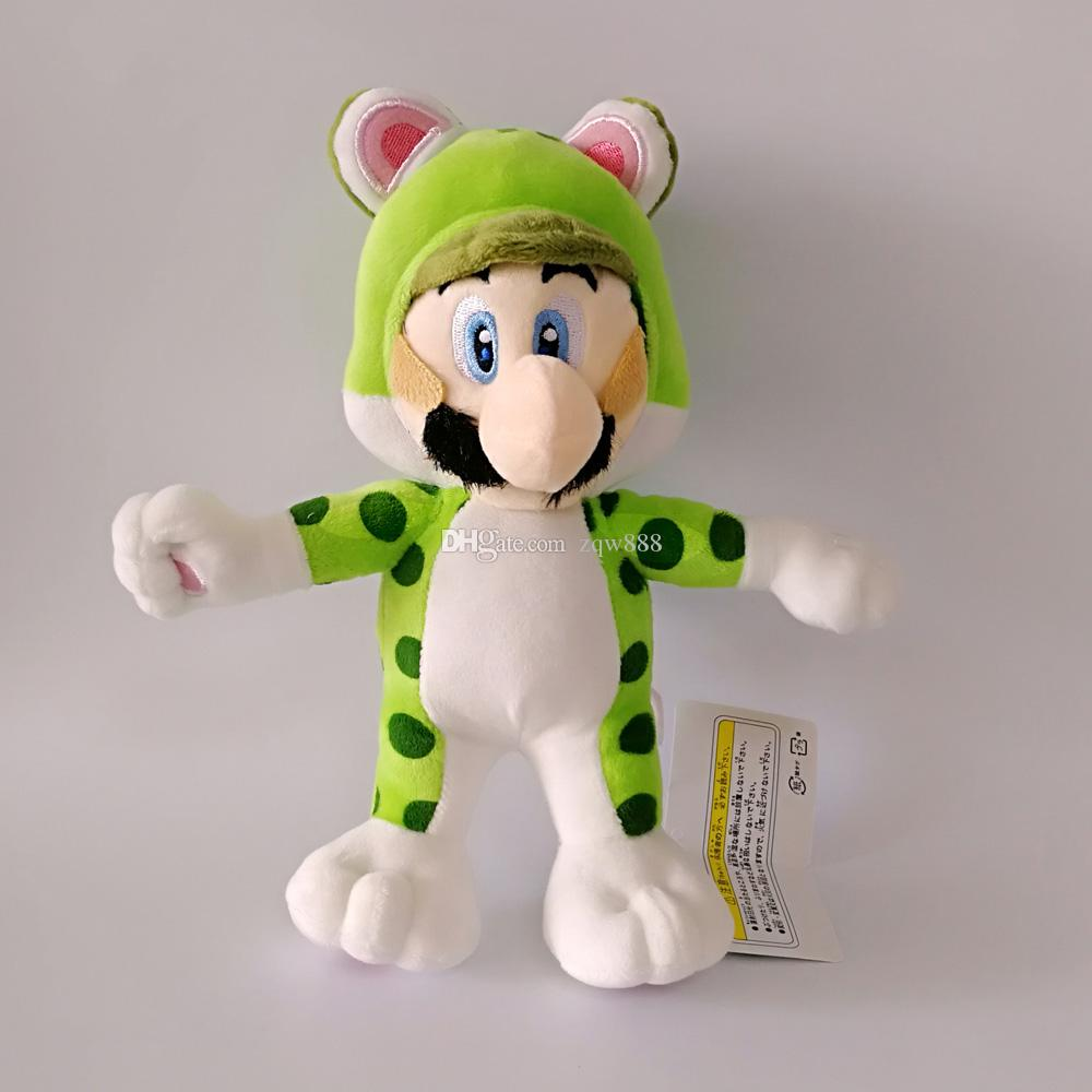 "New arrival 100% Cotton 8"" 20cm Super Mario Bros Mario & Luigi Cat Plush Doll Stuffed Animals Toy For Child Best Gifts"