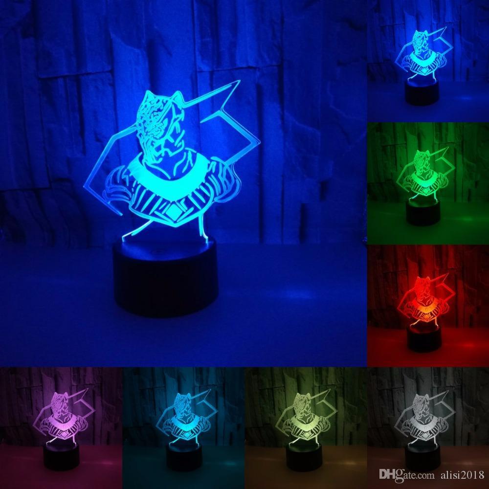 Night Vaisseau 3d Coloré Black Veilleuse Led Table Panther Bureau Superhero Acrylique Usb Light Lampe Spatial TlJ31uKcF