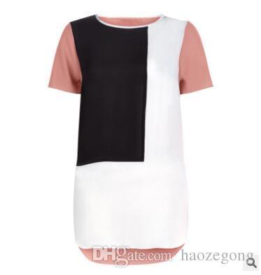 b5d2e2ada9ea70 6XL Plus Size T Shirt Women 2019 Korean Casual Stitching Camisetas Mujer  Loose T Shirt Female Tunic TShirt Tops T Shirt Quotes Patriotic T Shirts  From ...