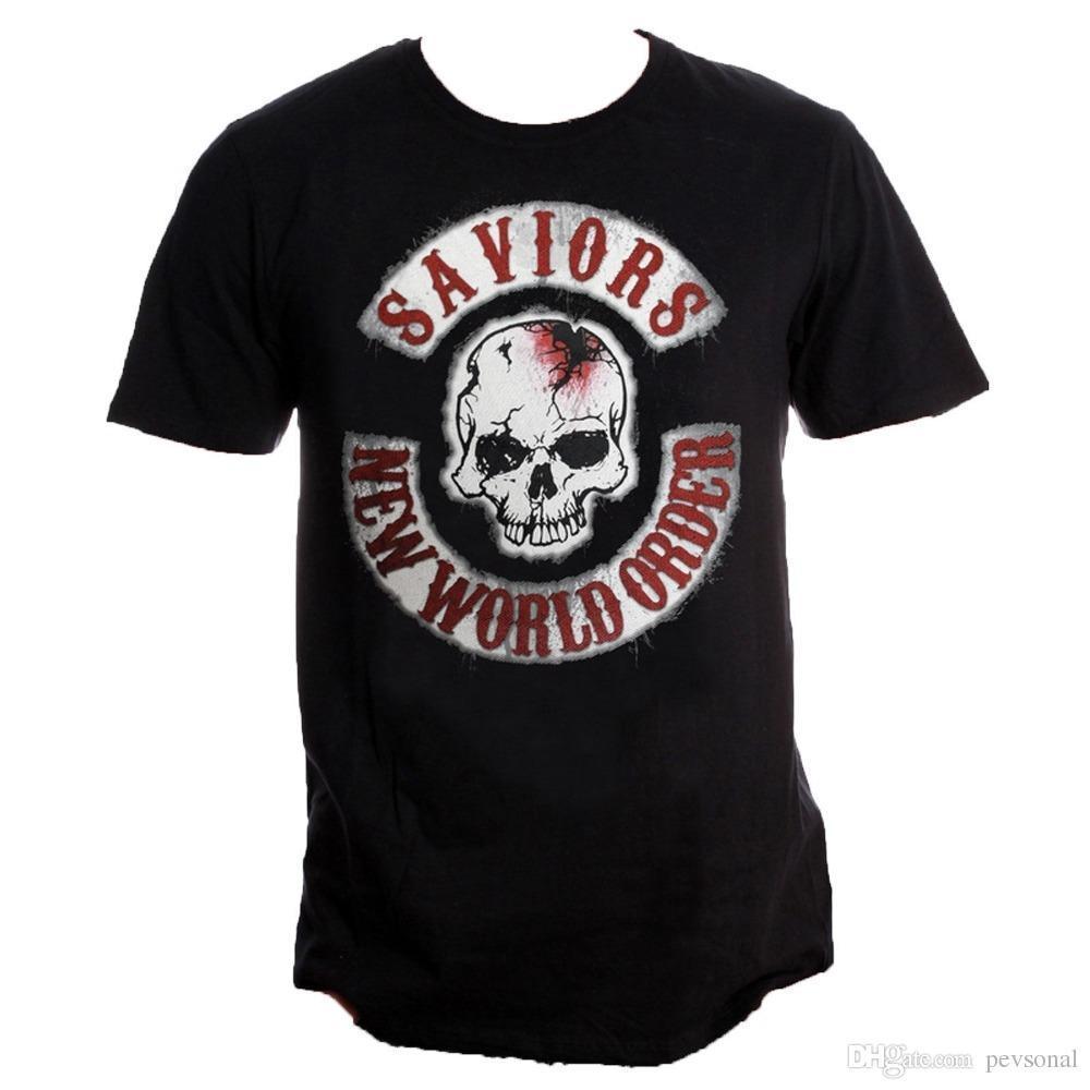 b355068625d27e Großhandel Sommer 2018 Neue Offizielle Herren Unisex The Walking Dead Die  Retter Neue Welt Order Logo T Shirt Sommer Freizeitkleidung Von Nickkyo006