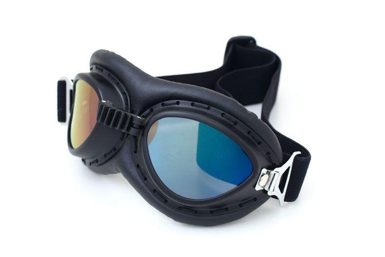 ed3cea123849d Compre Para A Segunda Guerra Mundial Do Vintage Estilo Harley Óculos De  Proteção Da Motocicleta Piloto De Moto Óculos De Retro Capacete Do Jato  Eyewear De ...