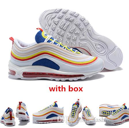 sports shoes 36f21 31cf2 97 SE Summer Vibes White Running Shoes With Box 97 Trainers Sneaker Sports  Shoes Best Quality Size 36 46 Wholesale Running Shoes Men Running  Accessories ...