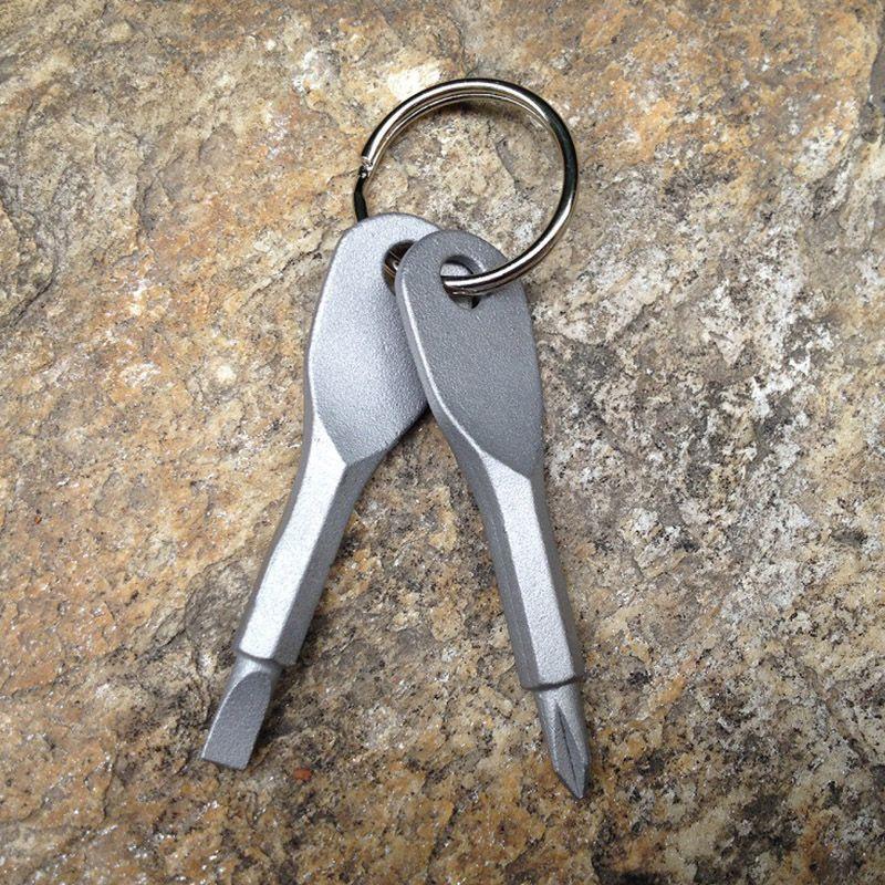 Cacciaviti Portachiavi Tasca esterna Mini cacciavite Set portachiavi con intaglio a croce con chiave a mano ciondoli portachiavi WX9-204