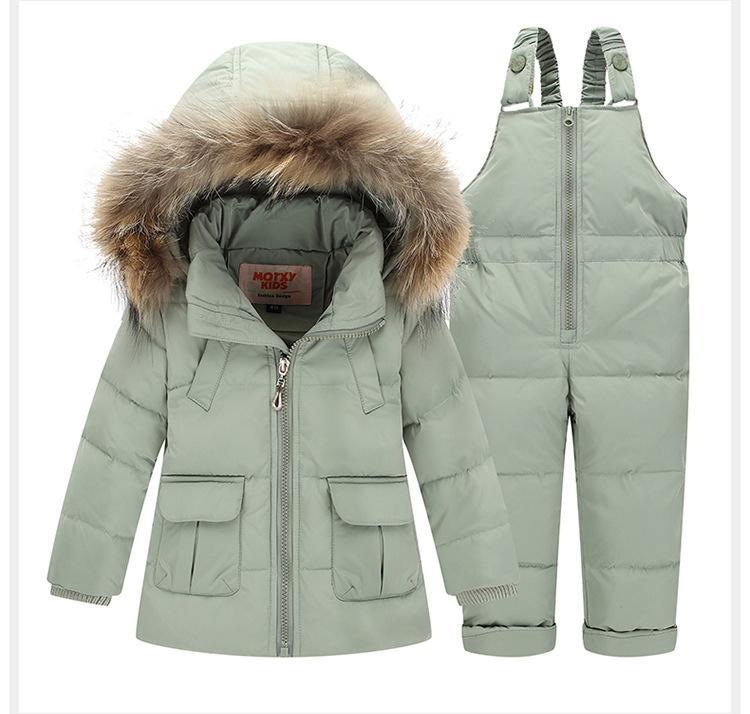 921f7a0c9 1 3 Years Children Duck Down Jacket Kids Snowsuit Winter Overalls ...