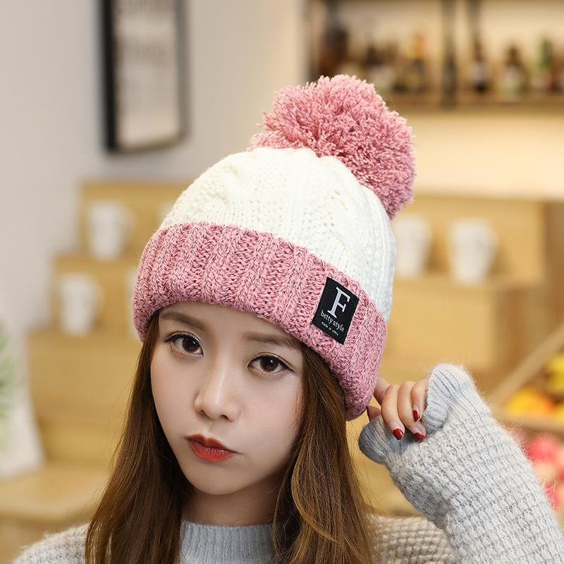 6ded31230 Fashion Winter Warm Knitted Women Cap Girls Cute Thick Warm Caps Ladies  Brand Casual Colorful Caps