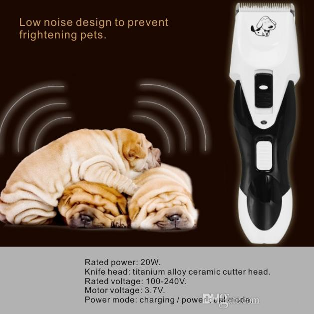 Professional Pet Clipper Hair Trimmer Animal Grooming Silent design Charging/power dual mode Rechargeable battery can 180 minutes.