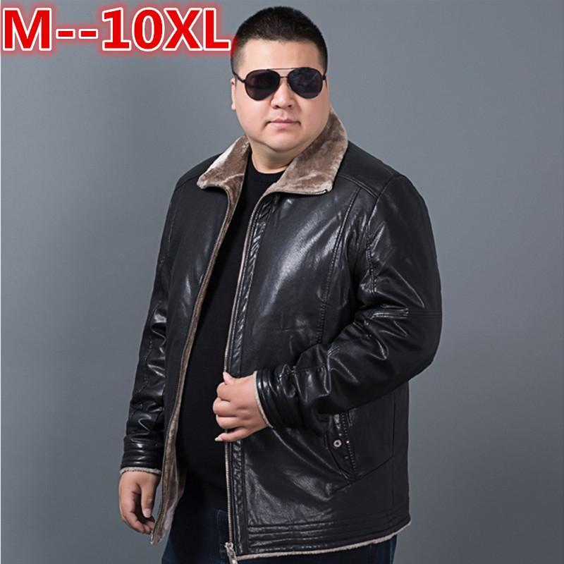 3d413350 2019 Plus Size 10XL 8XL 6XL 5X Winter Mens Genuine Leather Jacket Brand  Clothing Sheepskin Coat Rex Rabbit Fur Parka With Mink Collar From Vikey18,  ...