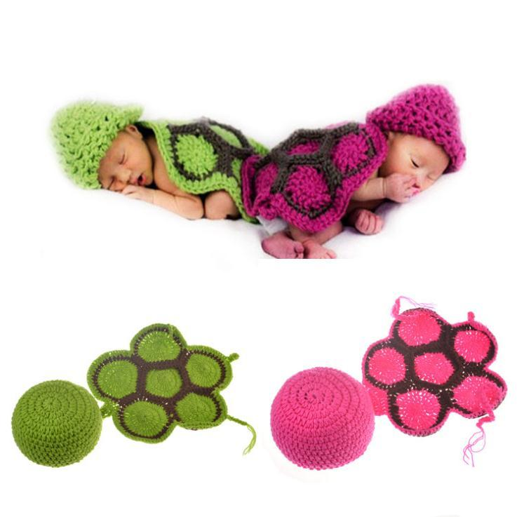 69dcf6870 Newborn Baby Photography Props Knitting Crochet Baby Turtle Photography  Props Infant Baby Photo New born Cute Outfits