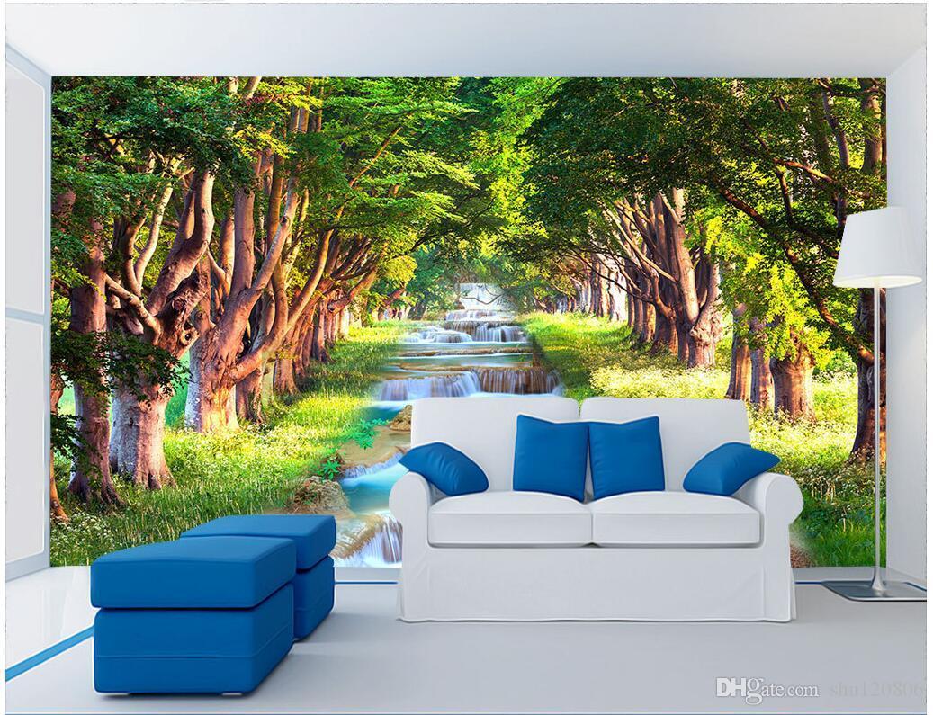 3d camera wallpaper panno personalizzato foto Creek paesaggio murale paesaggio sfondo muro 3d murales carta da parati pareti 3 d tessuto di stampa