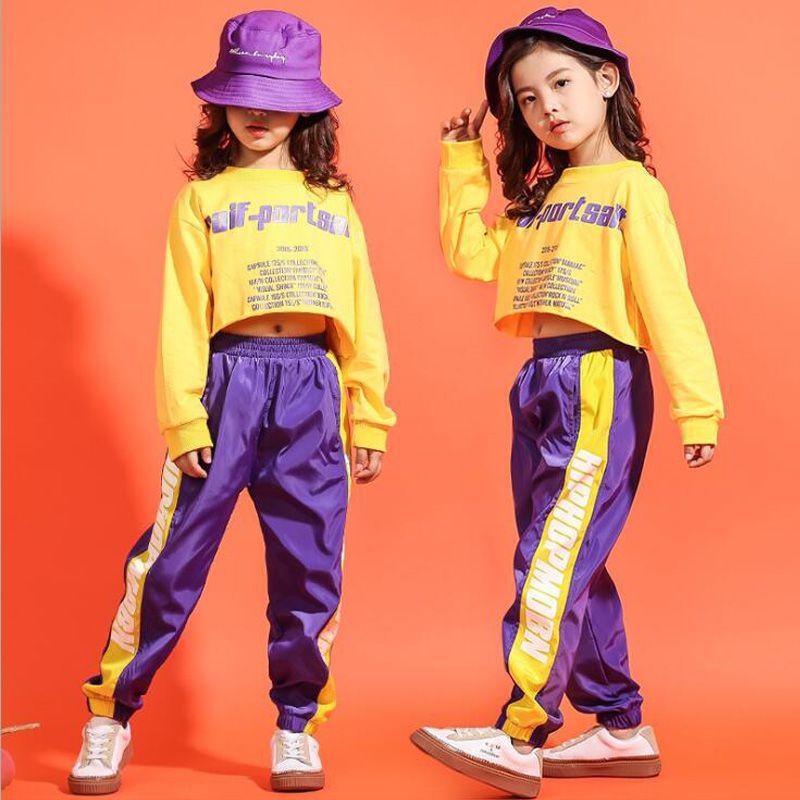 Compre Camisa Recortada Para Niños Camisa De Chándal Pantalones De Jogger  Trajes De Ropa De Hip Hop Traje De Baile De Jazz Para Niñas Niños Salón De  Baile A ... 90ab8162e7c