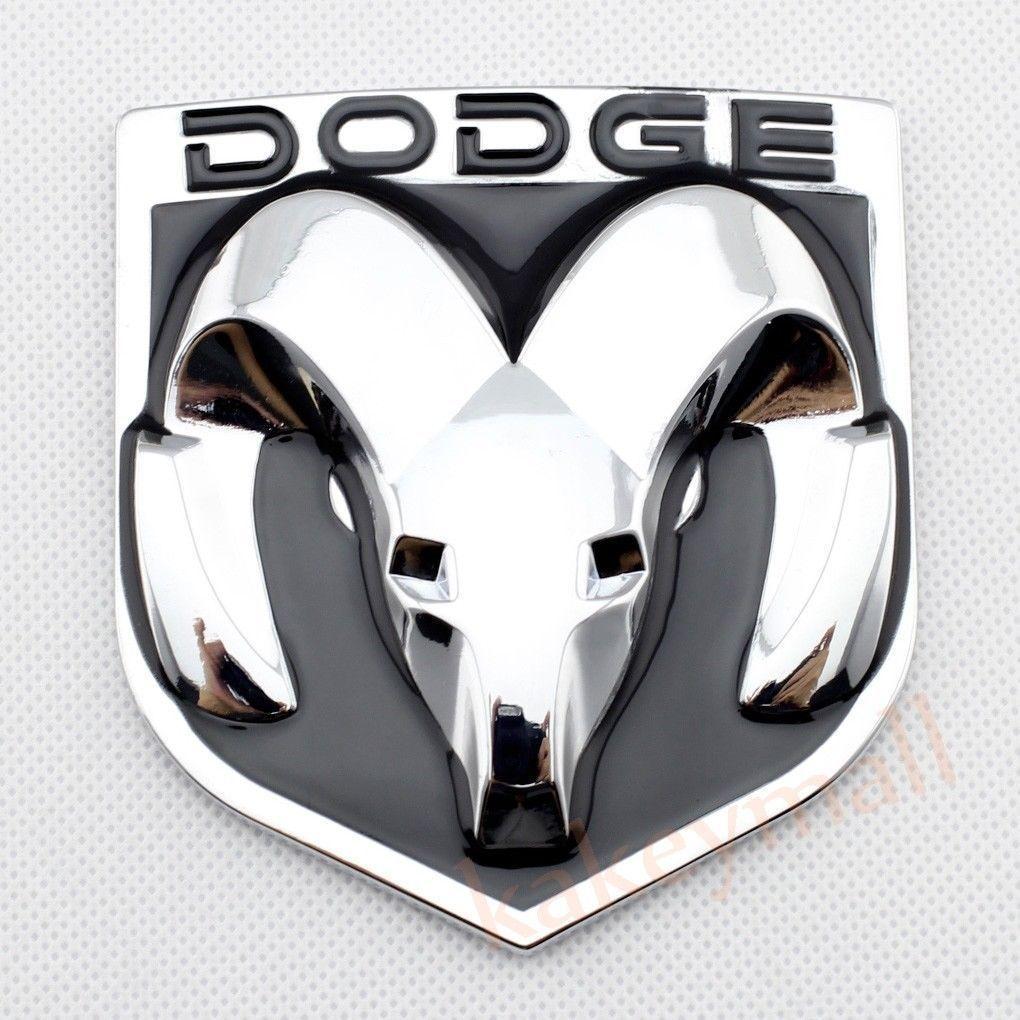 3d decal sticker chrome ram head badge logo decor for dodge emblem