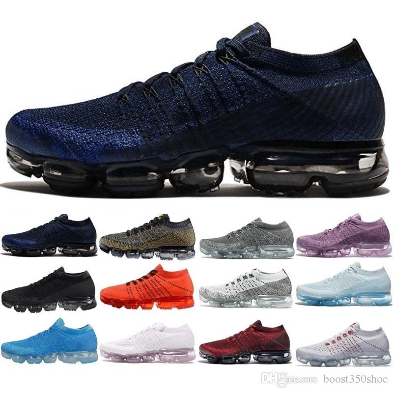 Rainbow Vapormaxes 2018 Vapormaxes Fly 2.0 II Mens Designer Shoes Men Running Trainers Women Luxury Brand Sneakers sports Casual Vapor buy cheap with credit card UQ75hMPyD