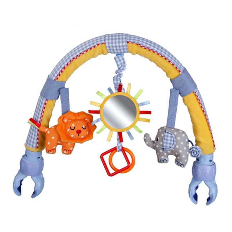 New Arrival Sozzy baby hanging blue elephant and pink bunny music toy Bed & Stroller Toy Rattle