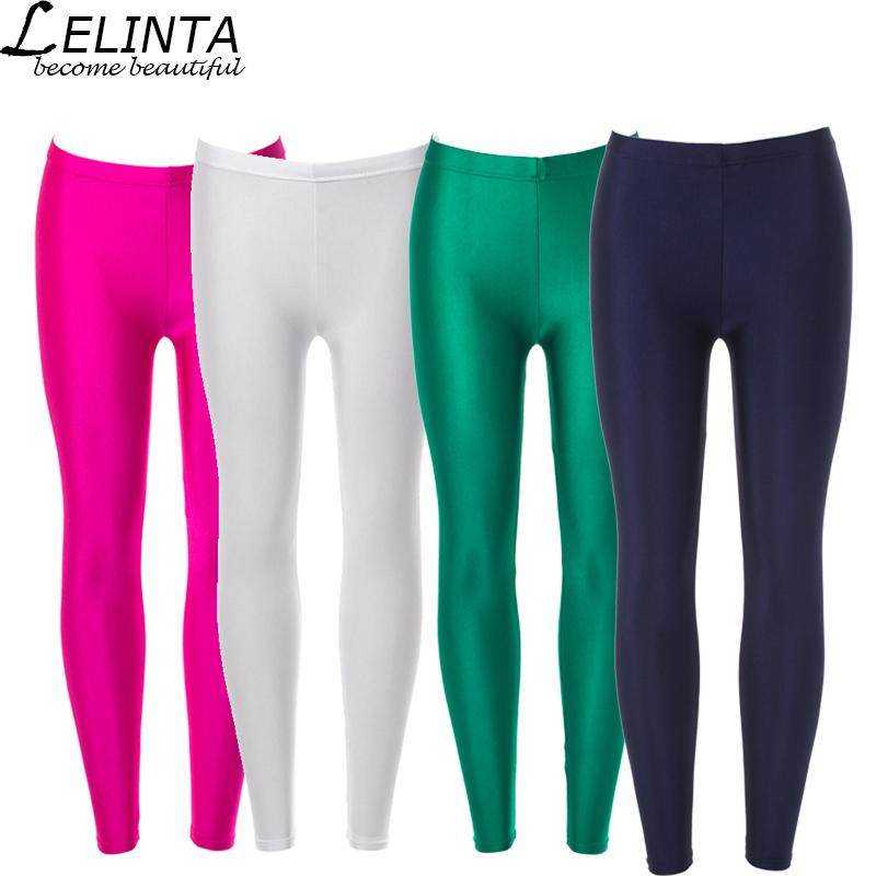 aa8de52b60994 LELINTA Solid Color High Waist Yoga Sports Leggings For Women ...