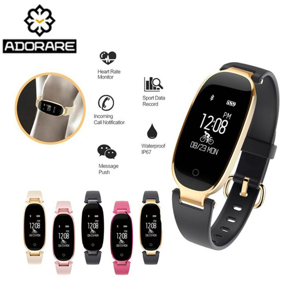 Latest Collection Of Fashion Smart Watch Silicone Women Bluetooth Waterproof Ladies Montre Heart Rate Smartwatch Relogio Inteligente For Android Ios Watches