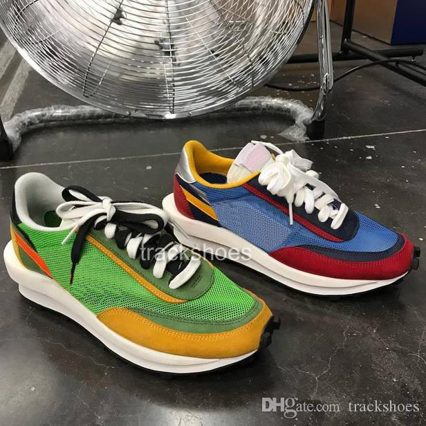 New Sacai LDV Waffle blue green athletic shoes For men women fashion sneaker black white Camping Hiking running jogging trainer shoe 36-45