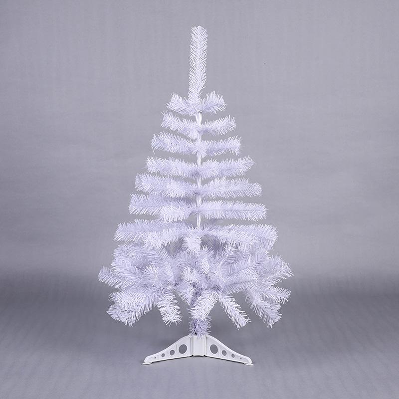 90cm Artificial Decorated Snow Christmas Tree White Xmas Plastic
