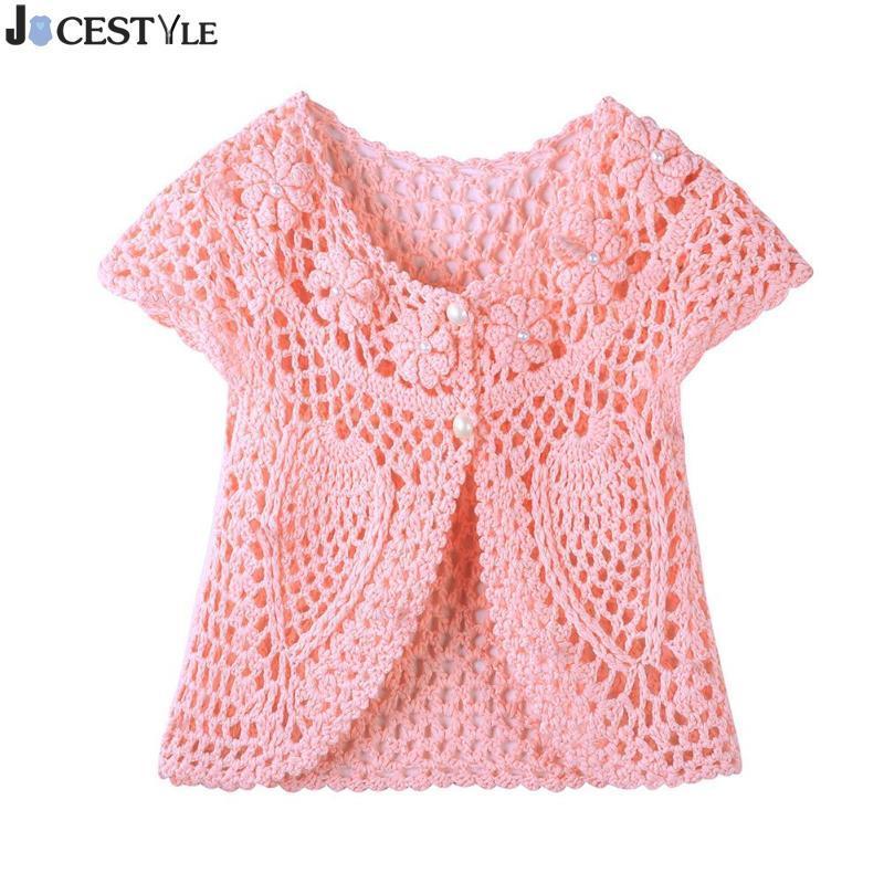 Großhandel Mode Baby Mädchen Stricken Pullover Handarbeit Häkeln
