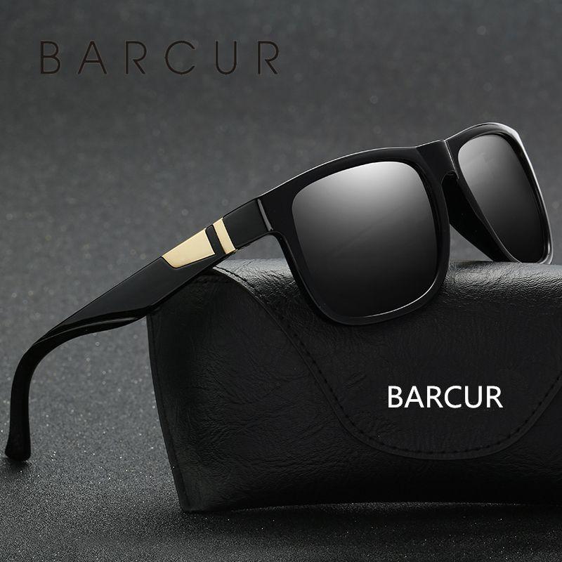 Compre BARCUR Matte Black Plastic Mens Largo Óculos De Sol De Luxo Lasses  2017 Homens Óculos Acessórios Oculos De Goodwatchgood,  28.01    Pt.Dhgate.Com c9323acffc