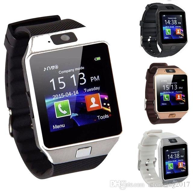 e999555c7f6 Factory Price DZ09 Smart Watch Digital Men Watch For Apple IPhone Samsung  Android Mobile Phone Bluetooth SIM TF Card Camera 2015 Smart Watches Smart  Phone ...