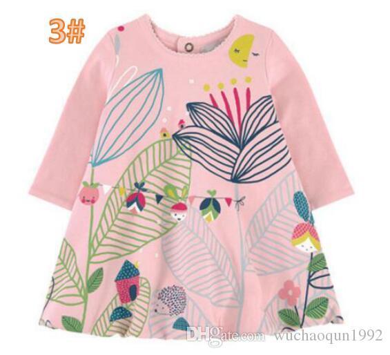 Принцесса платье с карманами животных печатных девушка туника Джерси платье 2018 Дети летняя одежда для девочки верхняя одежда Детские детская одежда BY0132