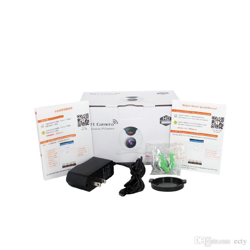 Novo ! Pan Tilt Câmera IP Sem Fio WI-FI 720 P CCTV Home Security Cam Micro Slot Apoio SD Microfone P2P Livre APP ABS Plástico