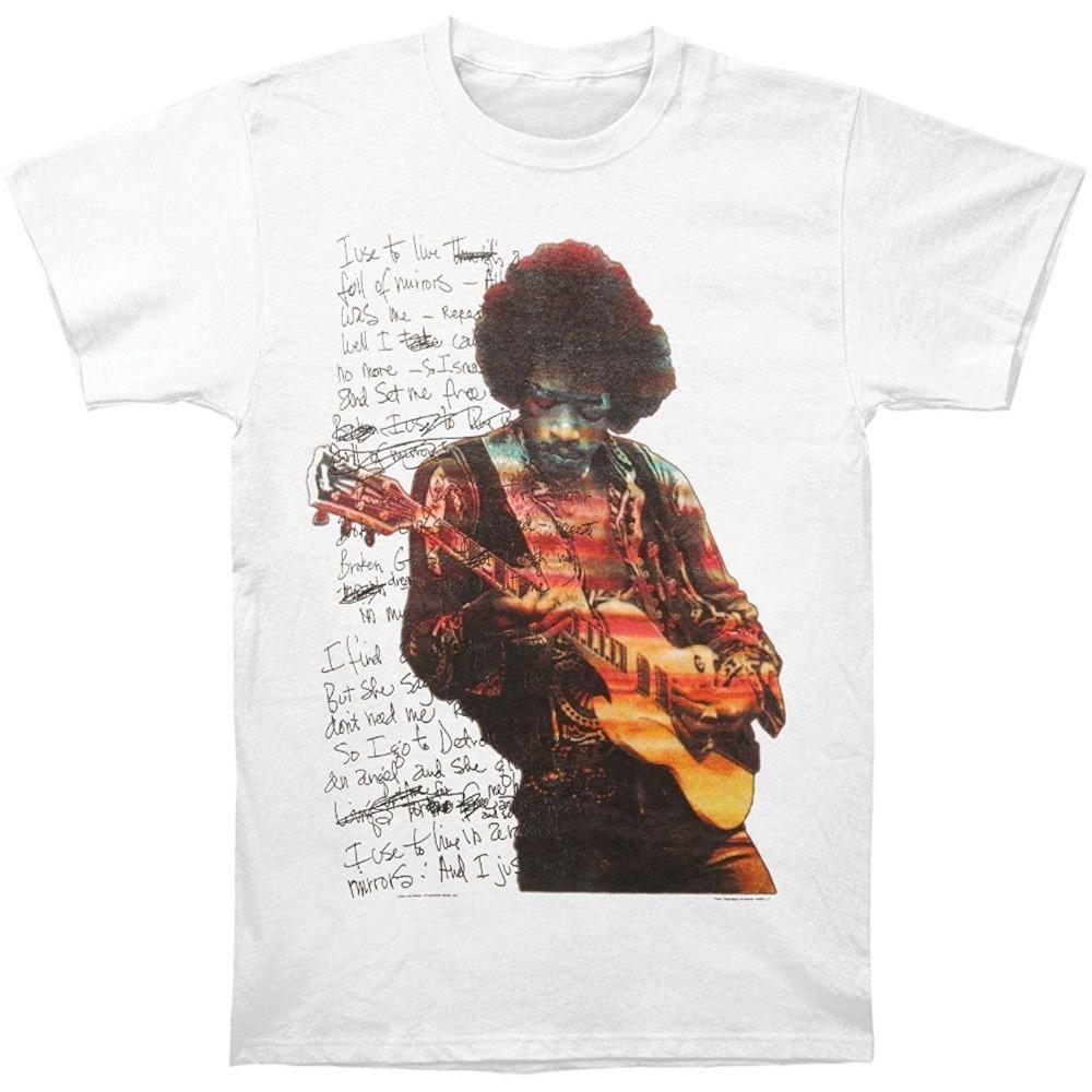 Handgeschreven Met Wit Spiegels Vol Herenschoenen Hendrix T Jimi shirt ZOXPiku