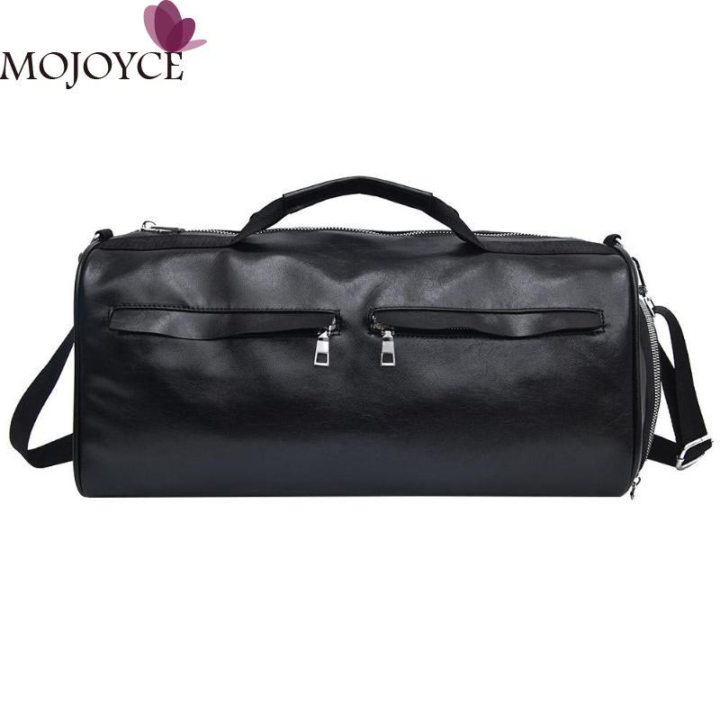 94d2cebcb1 Travel Bag PU Leather Couple Luggage Bags For Men 2018 And Women Portable Big  Capacity Casual Vintage Weekend Bag New Travel Bags Cheap Travel Bags Travel  ...