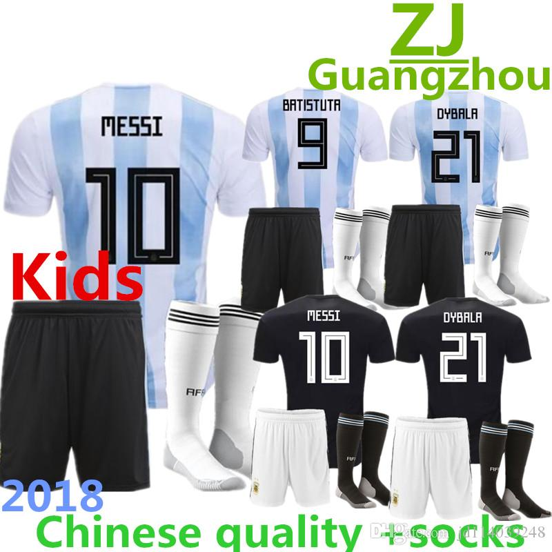 1617407a2 Argentina Kids Soccer Jerseys Sets Home Blue White MESSI JERSEY DI ...