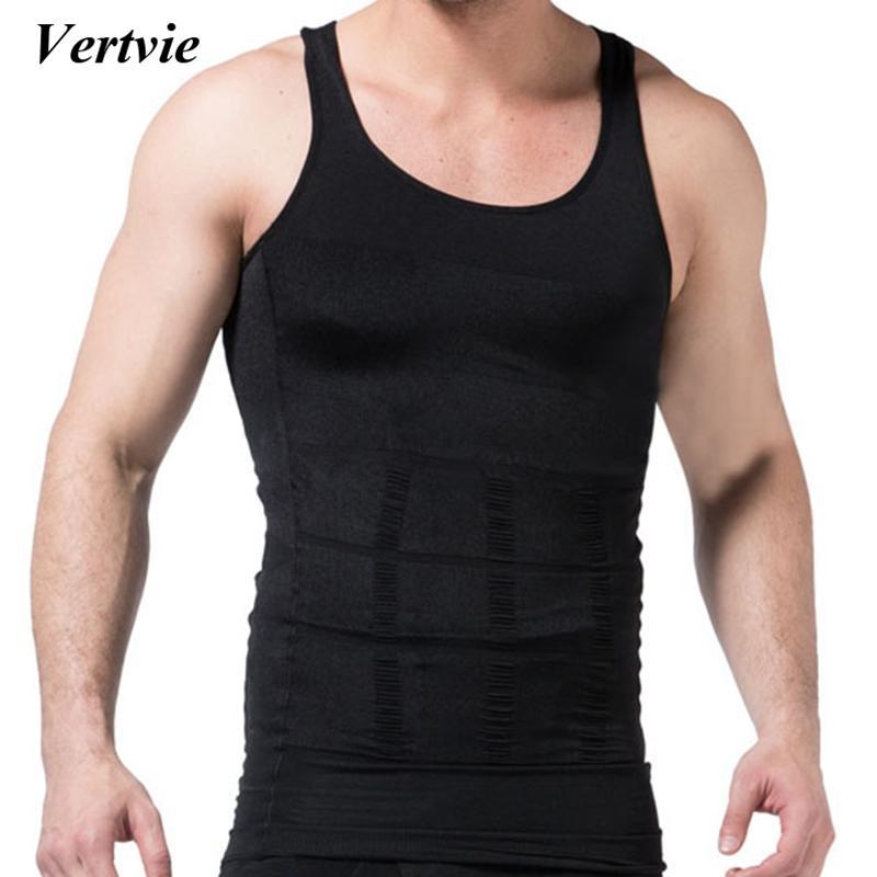 d48ee4f1c1 2019 Vertvie 2018 Men Running Vest Body Shaper Shirt Waist Cincher Corset Men  Shaper Vest Body Tummy Belly Waist Slim Sweat Shapewear From Kimgee