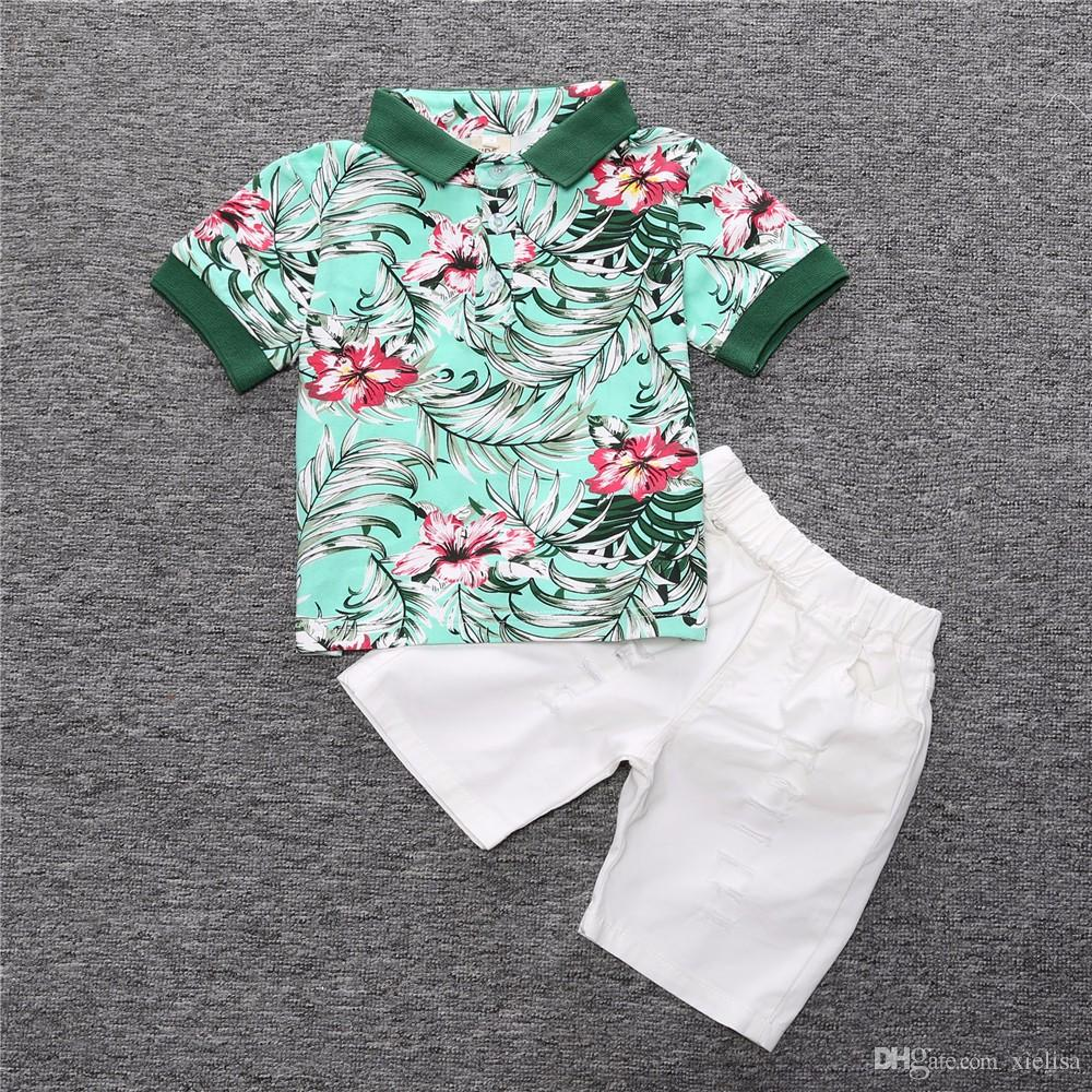High quality Children clothing sets Baby boys girls t shirts+shorts pants sports suit kids clothes