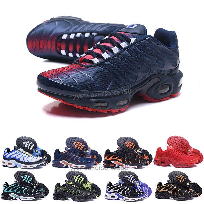 pretty nice 1dd9e 92670 Compre Nike TN Plus Air Max Airmax Descuento Hight Quality Sports Casual  Shoes Nuevo TN Hombres Negro Blanco Rojo Hombres Transpirable Runner  Sneakers ...