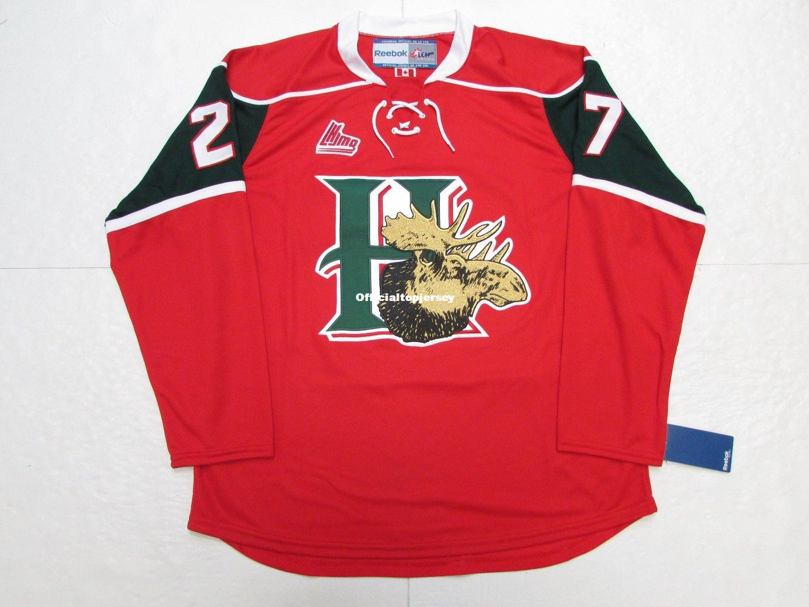 5ed7d3320 Cheap Custom JONATHAN DROUIN HALIFAX MOOSEHEADS RED HOME QMJHL PREMIER  HOCKEY JERSEY Mens Personalized Stitching Hockey Jerseys UK 2019 From ...