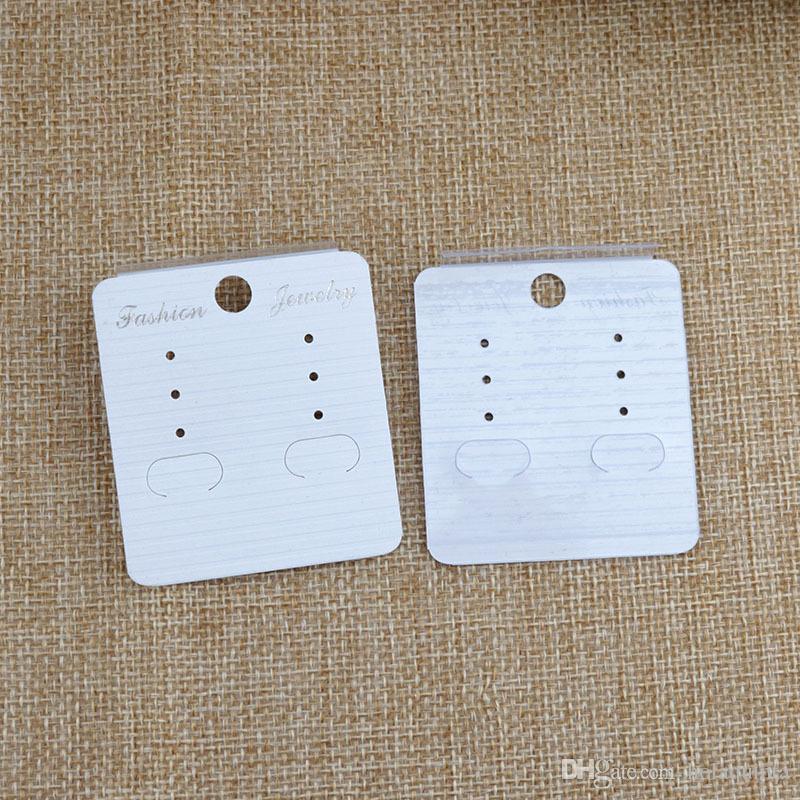 White Ear Hooks Earring Display Cards 4.5*5cm paper Earring Cards Display Earring tag