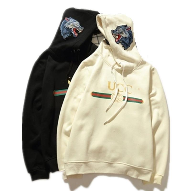 c15f94fa6e Luxury Brand Uomo Donna Wolf Ricamo Felpe con cappuccio Felpa con cappuccio  Designer in cotone con cappuccio con cappuccio Pullover Moda taglia M-2XL
