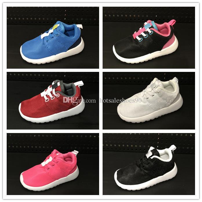 taille 40 98dfc 312cb nike roshe run rosherun Chaussures enfants Confort ultra-léger Garçon  Chaussures de course pour fille