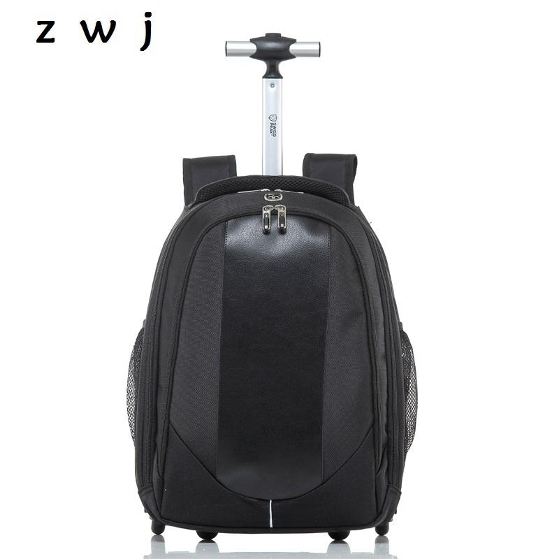 PU Rolling Suitcase Check On Luggage Trolley Travel Bag With Wheels Travel  Trolley Backpack Kids Suitcases Personalized Rolling Suitcase For Kids From  ... 46a7ad4fe36f4