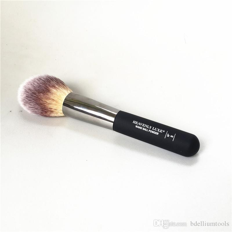 Heavenly Luxe Wand Ball Powder Brush #8 Angled Radiance Brush #10 Tapered Soft Hair Face Brush - Beauty Makeup Brushes Blender