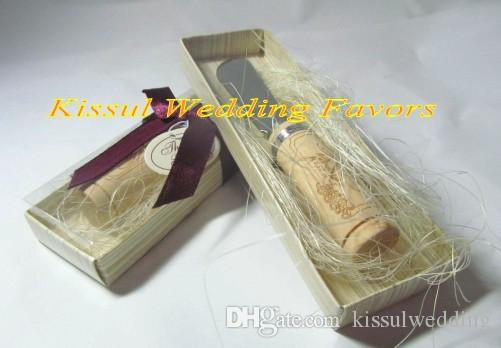 Wedding giveaways of Vintage Reserve Stainless-Steel Spreader with Wine Cork Handle Wedding gifts and Birthday favors