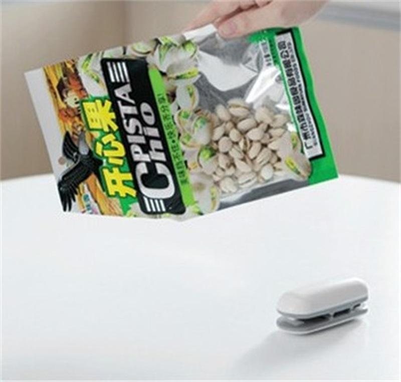 Haushalt Mini Heißsiegelmaschine Multifunktions Plastiktüte Verschließmaschine Tragbare Snacks Taschen Clips 7 4tq C