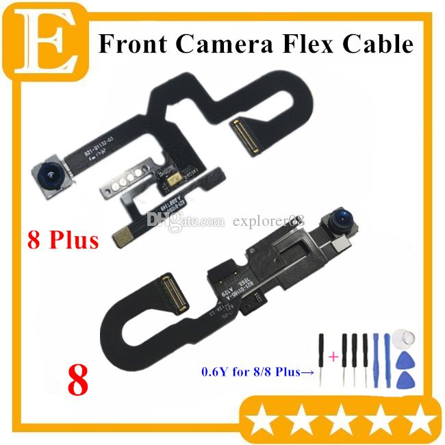 100% OEM Front Camera For iPhone 8G 7 8 Plus Small Facing Camera Module With Proximity Light Sensor Flex Cable Replacement Parts
