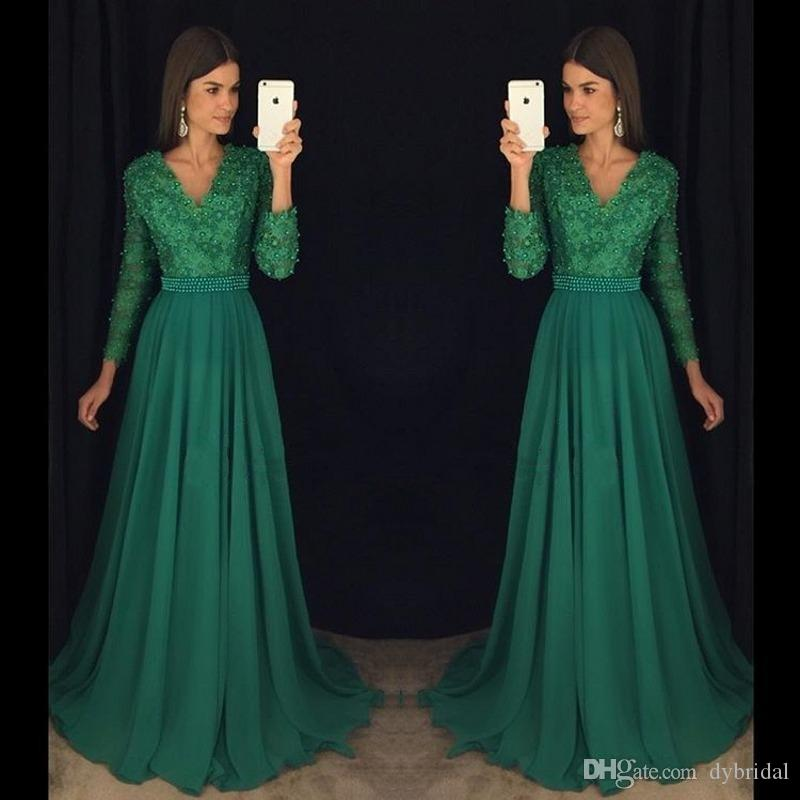 2018 sexy cheap plus size prom dresses formal evening gowns lace long sleeves african prom dresses long