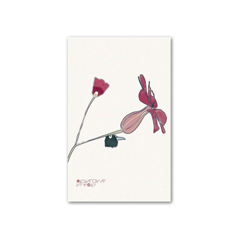 Satın Al Minimalist çiçek Boyama Duvar Tuval Poster Dekoratif Yatak