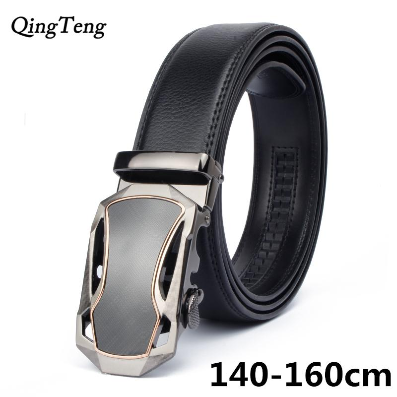 160cm automatic belts for men famous designer brands high quality genuine leather belt big size man gold strap long ceinture