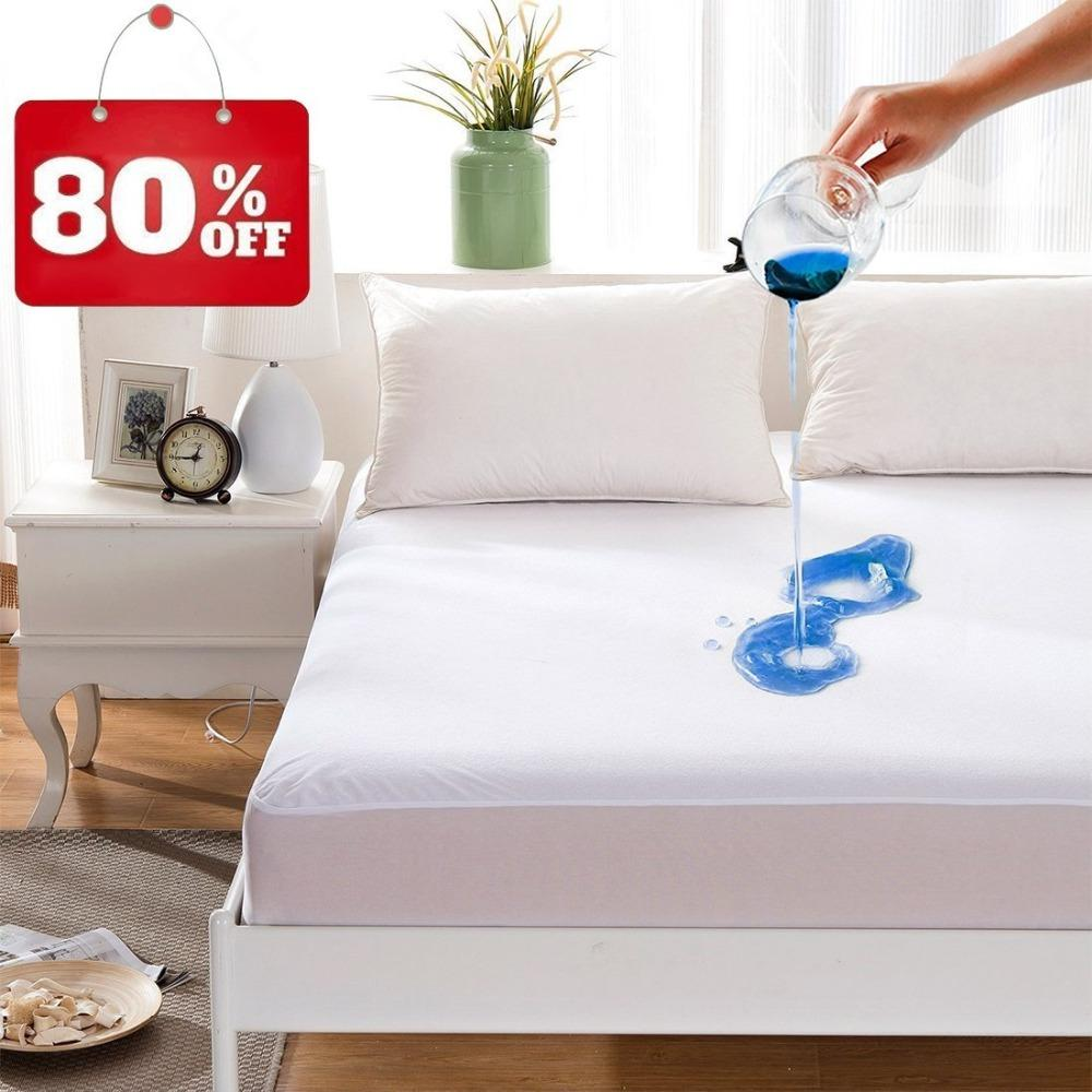 Hot Solid Color Bed Mattress Cover Waterproof Mattress Protector Pad Fitted  Sheet Separated Water Bed Linens With Elastic Le Creuset Bakeware Loaf  Bakeware ...