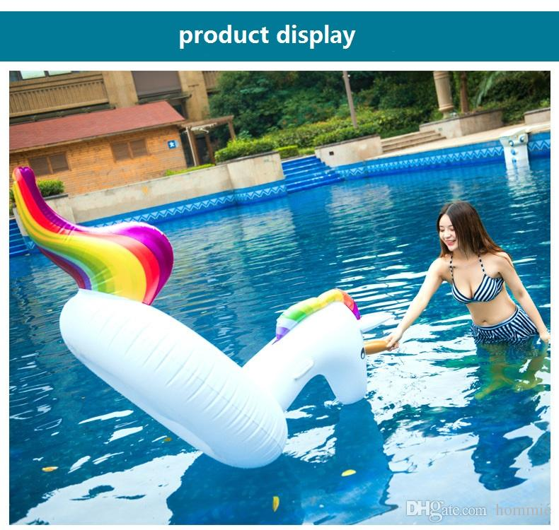 Inflatable Float 200CM ECO-Friendly PVC Summer Outdoor Ride-On Pool Toys Swimming Water Raft Fun Adult Kid Swim Party Toys