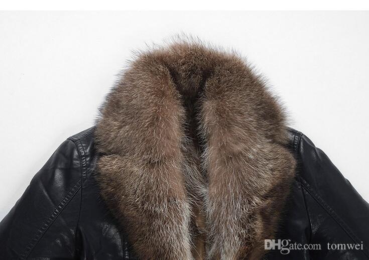 실제 너구리 모피 코트 겨울 재킷 윈드 눈 가죽 Jakcets 착실히 보내다 외투 두꺼운 높은 품질 플러스 크기 DHL을 따뜻하게